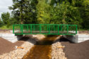 Pictures by JASON HEDGES     A new footbridge has been installed in Linkwood, New Elgin next to the new Moray Sports Centre.