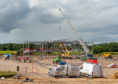 Pictures by JASON HEDGES     Pictures show the recent development of the new Linkwood Primary School near the new Moray Sports Centre in Elgin.