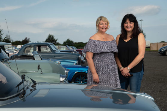 Event organisers Tracy Stellar and Julie Muir organise Clan Cancer Support's annual classic car cavalcade in Moray.