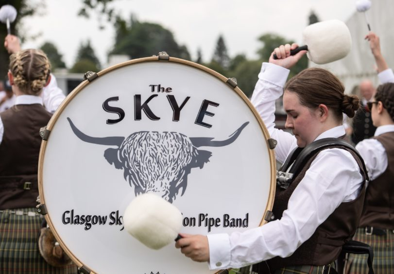 A drummer from Skye drums.  Pictures by JASON HEDGES