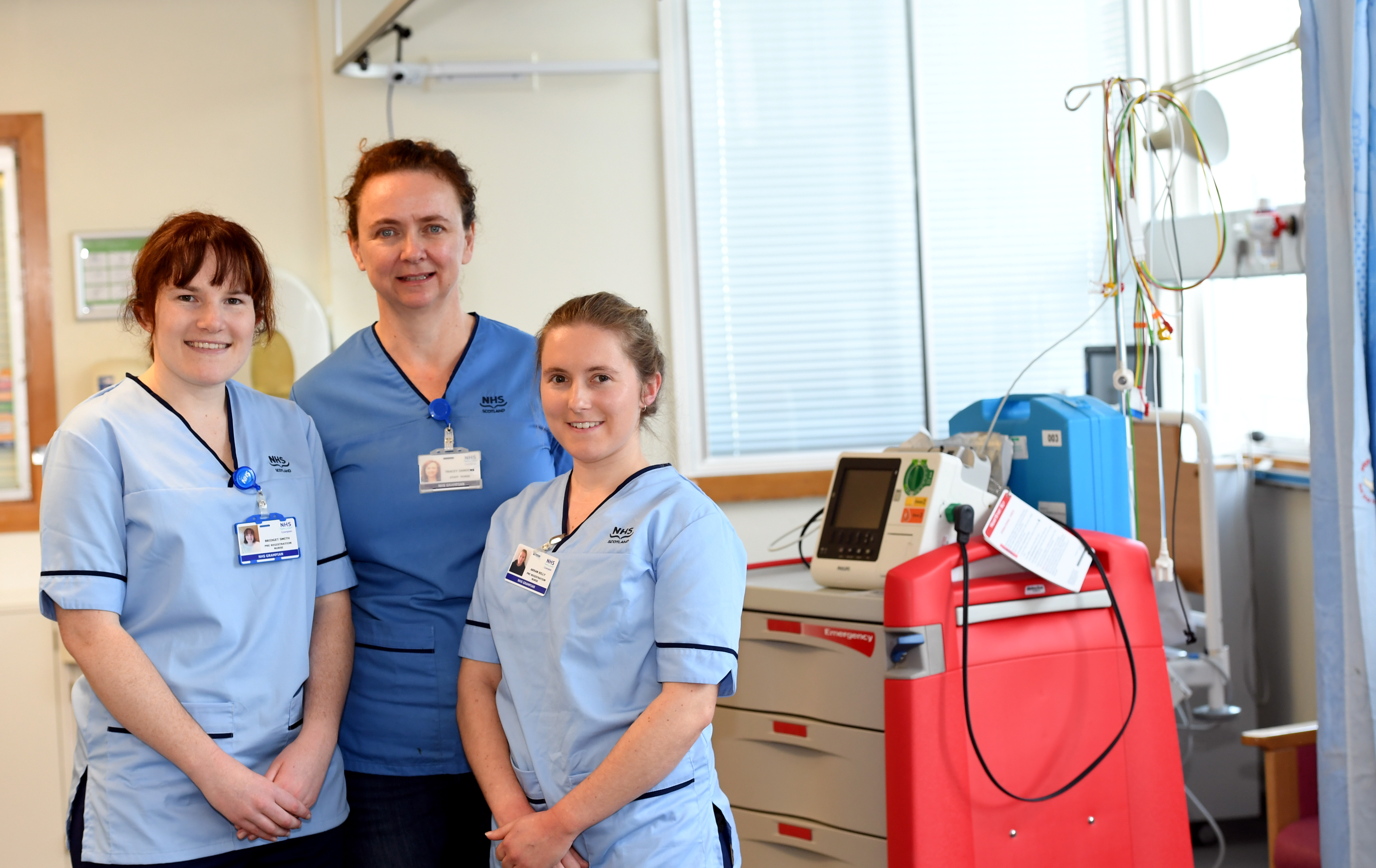 Pictured - L-R Nurses Bridget Smith, Tracey Sanders and Arran Kelly at ARI.        Picture by Kami Thomson