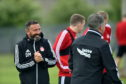 Aberdeen manager Derek McInnes as the Dons returned for pre-season training last month.