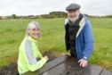 Richard Fyfe, Chairman of the Culbokie Community Trust with director Penny Edwards at the Glascairn site in the village.