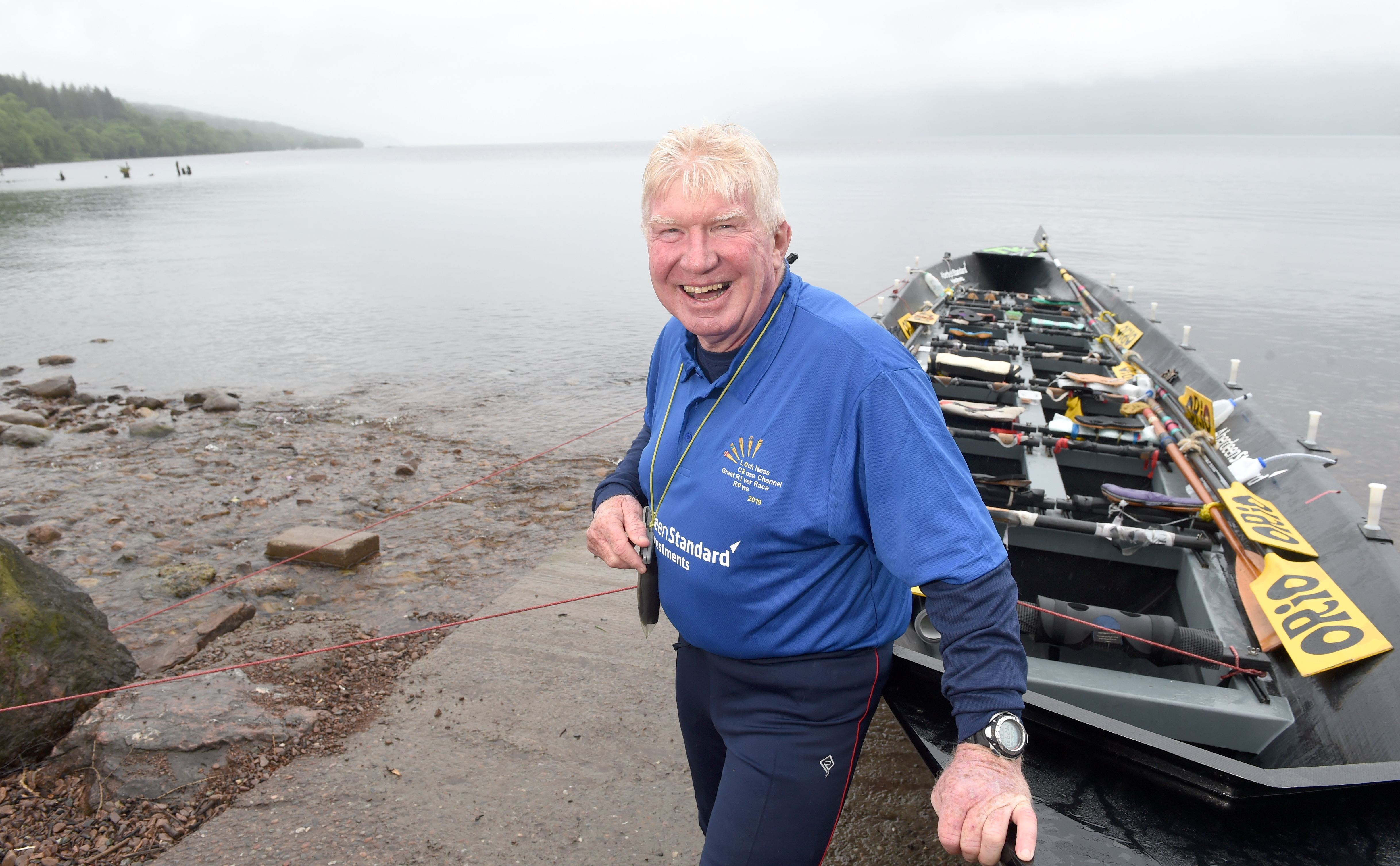 Scottish adventure Jock Wishart will be at the helm as his team prepare to break the long-standing world record on the famed loch. Picture by Sandy McCook