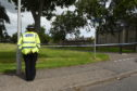 A police cordon  in place in the Doocot Park area of Elgin.
