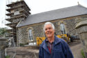 Project co-ordinator Ian Whewell at the Portsoy Church centre.