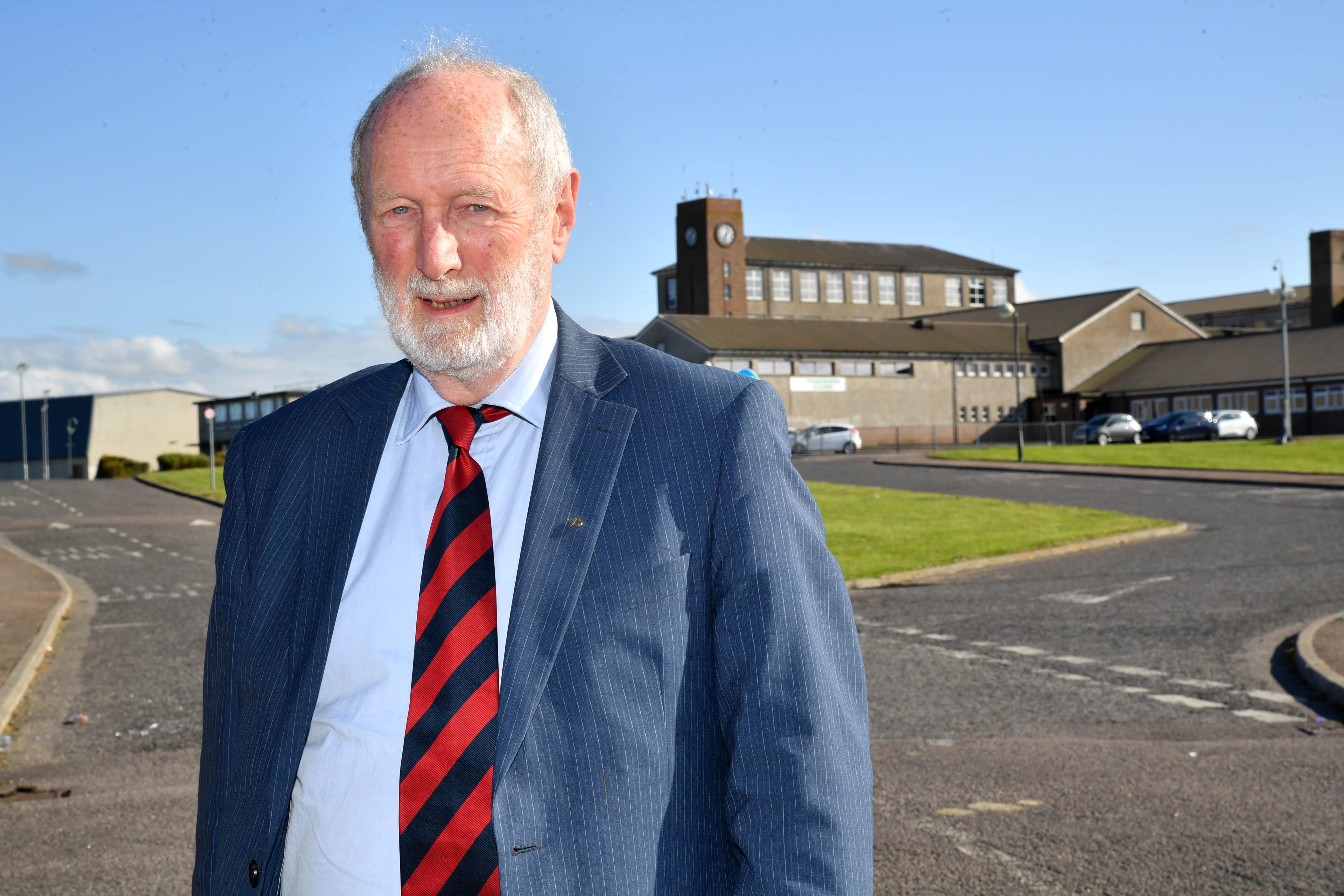 Councillor Charles Buchan at Fraserburgh Academy.