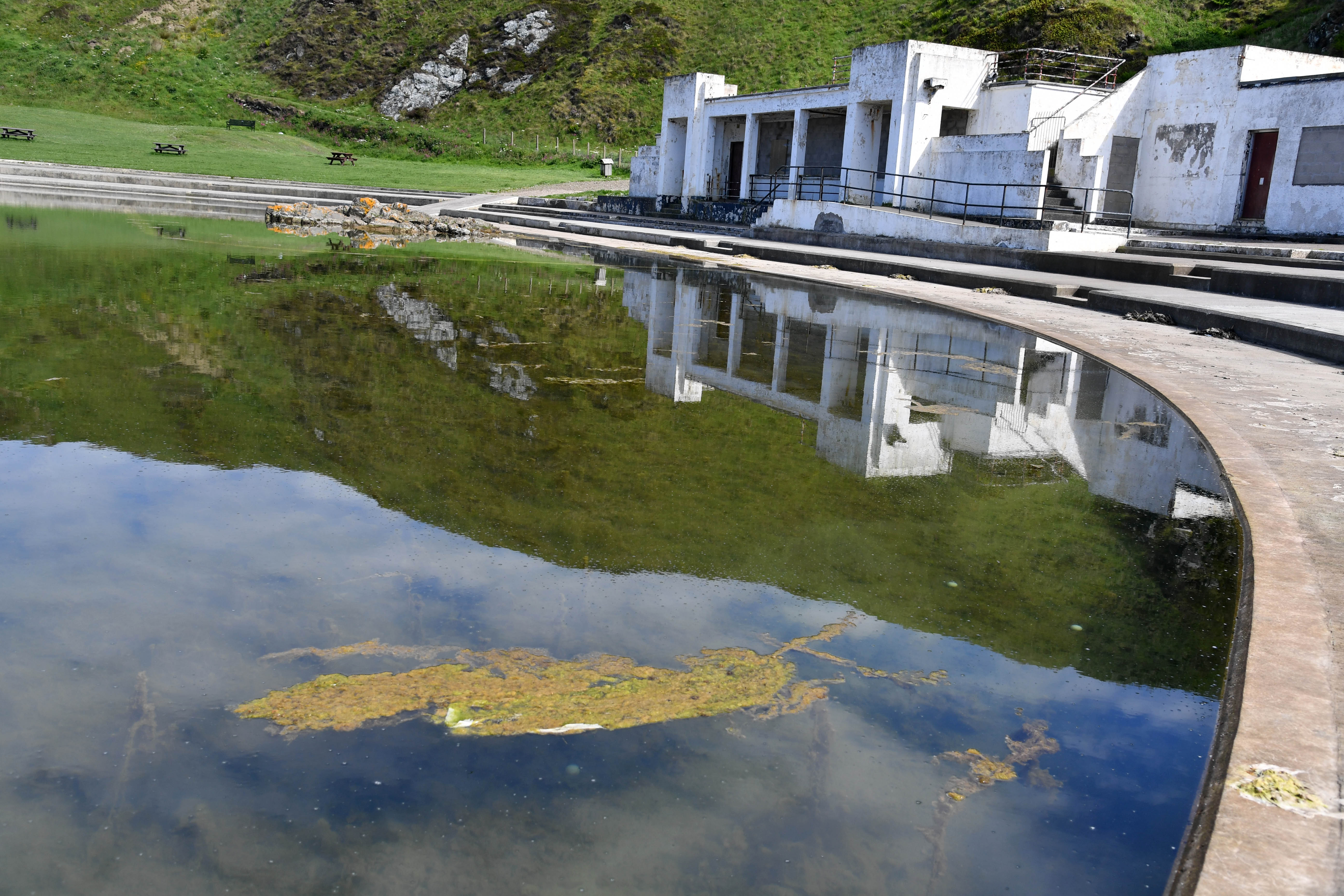 Underwater growth is clogging up Tarlair swimming pool