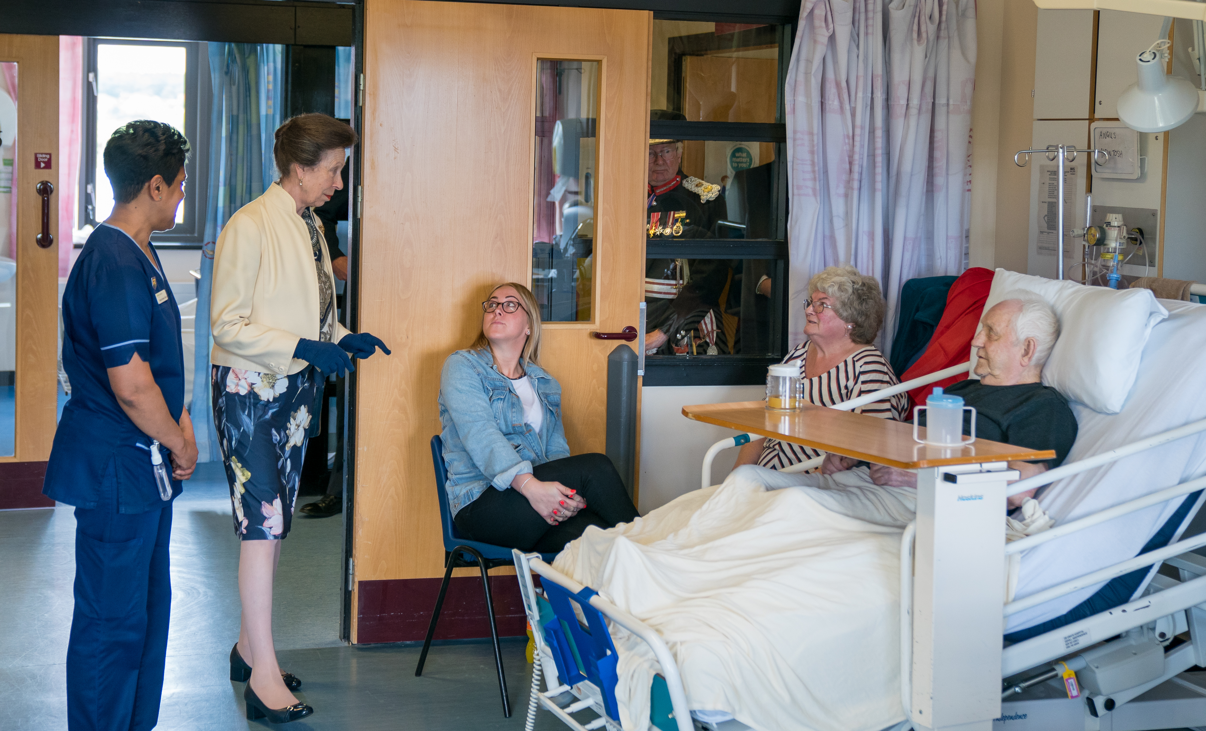 Princess Royal during her visit on the 200th Birthday of the Hospital where she unveiled a plaque and visited staff and patients.
