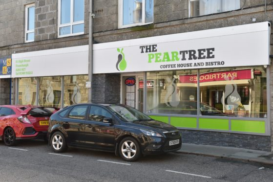 The Peartree Coffee House in Fraserburgh.