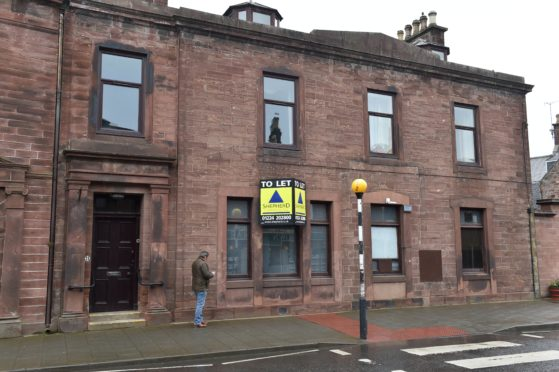 The former RBS Bank in High Street, Turriff might be converted into a coffee shop. Picture by COLIN RENNIE