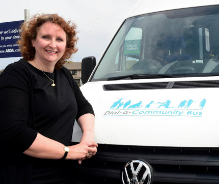Rachel Milne during her time at Buchan Dial-a-Bus