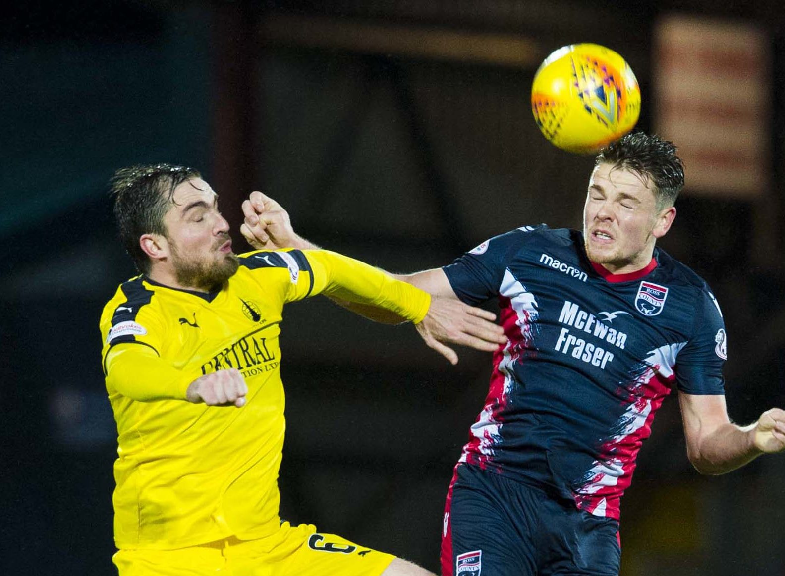 Callum Semple (right) has left Ross County