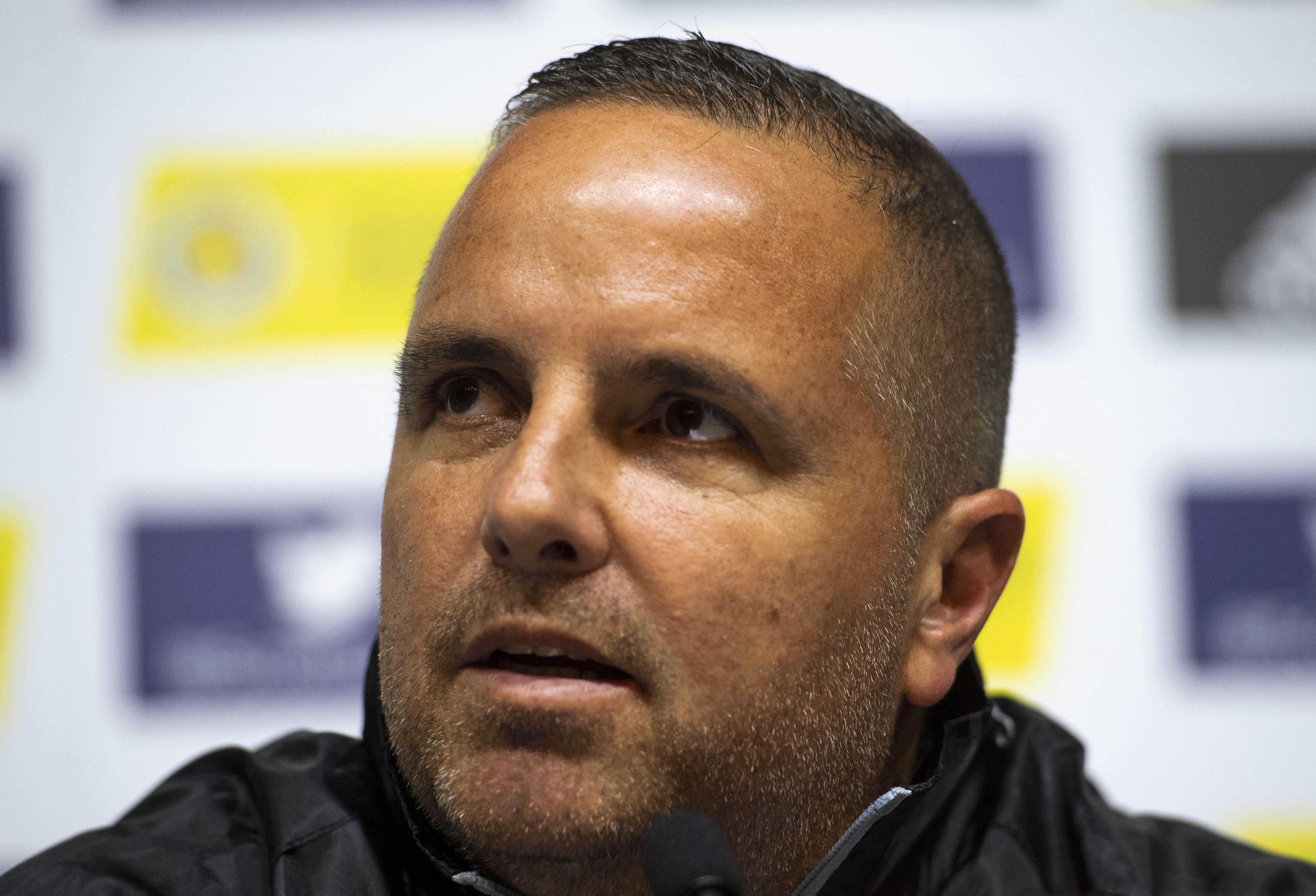 07/06/19 HAMPDEN PARK - GLASGOW Cyprus manager Ran Ben Shimon address the media.