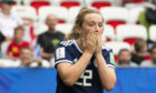 Erin Cuthbert looks dejected after missing  a chance.