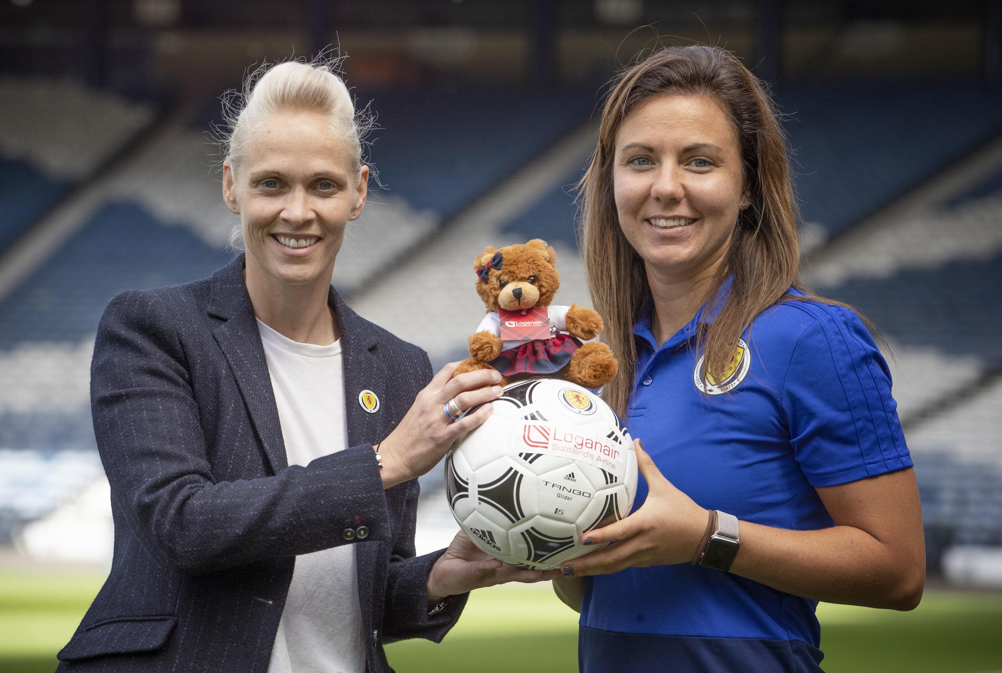 Scotland women's national team manager Shelley Kerr (left) and captain Rachel Corsie