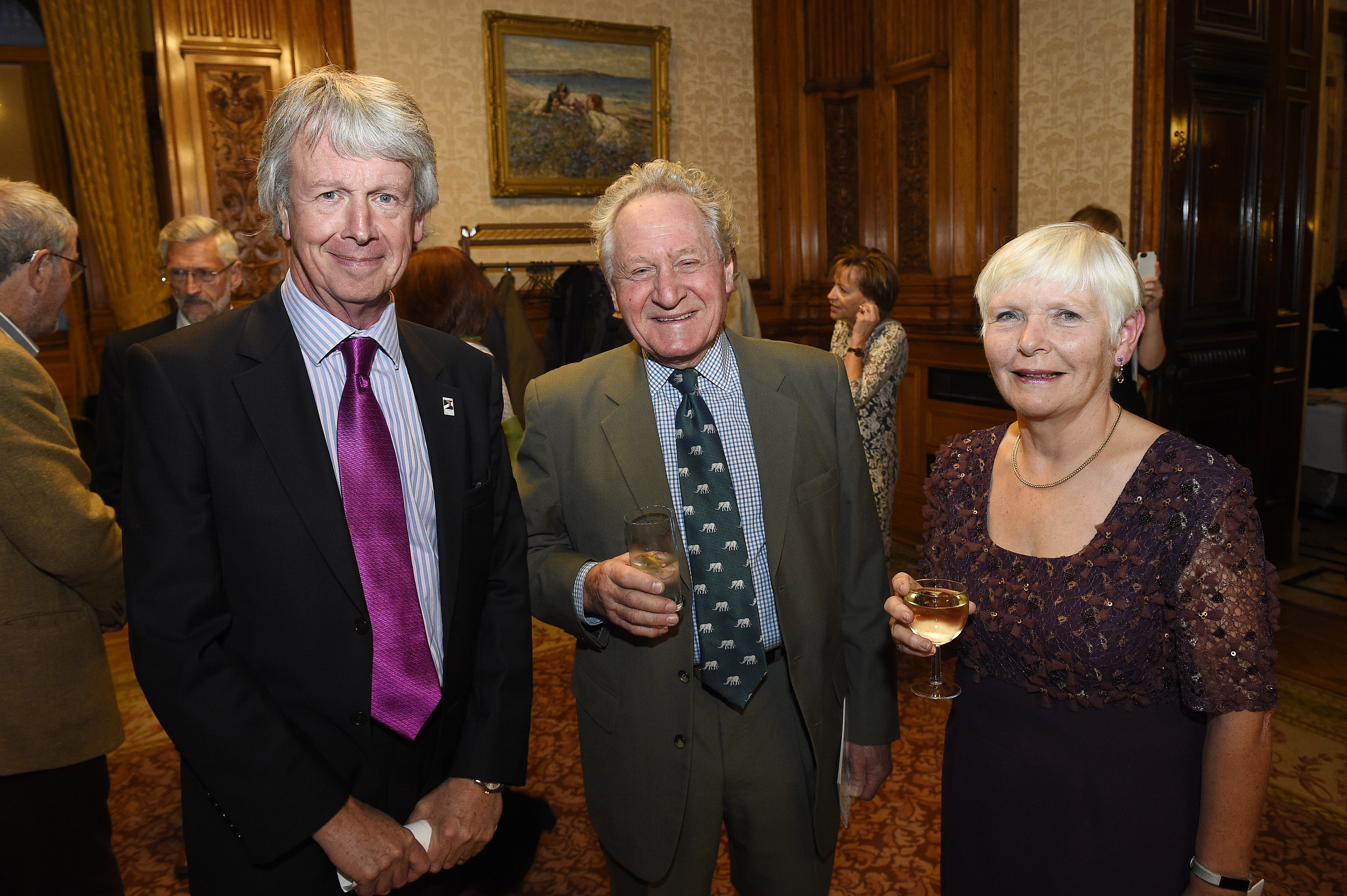 Jane Mayo at the Scottish Heritage Angel Awards, at the City Chambers in Glasgow with her husband David (centre) and Colin McLean (left) of Scottish Civic Trust.
