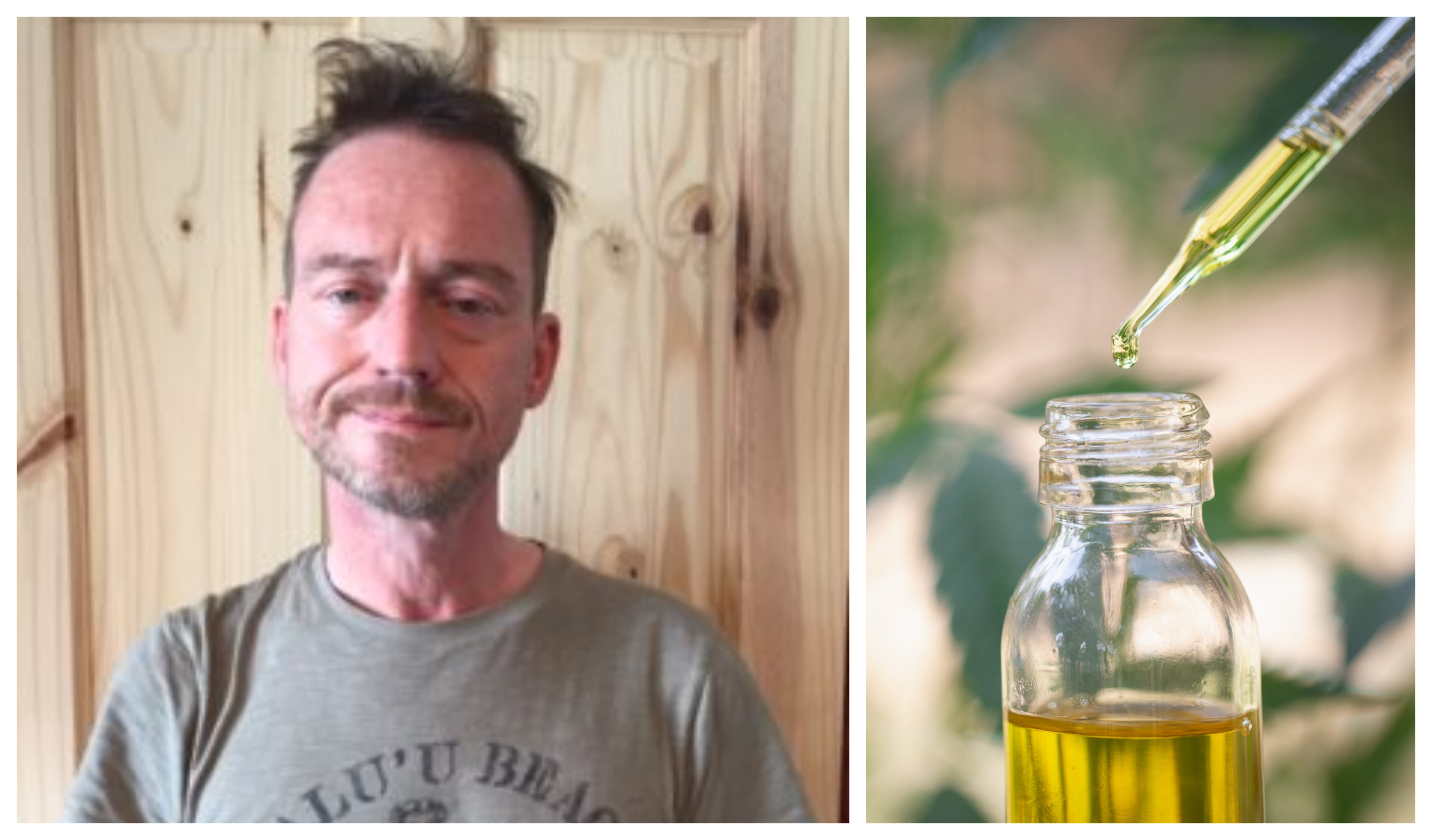 Colin Robson uses CBD oil to eased his pain.