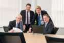 The formation of Fairfield Decom was announced last month. Managing director Graeme Fergusson is pictured centre-right.