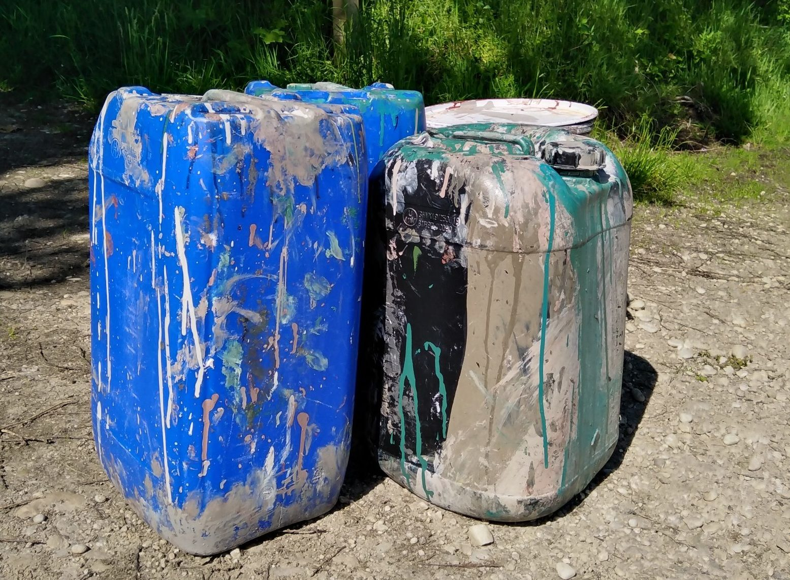 The four containers were left at the entrance area to a site of special scientific interest