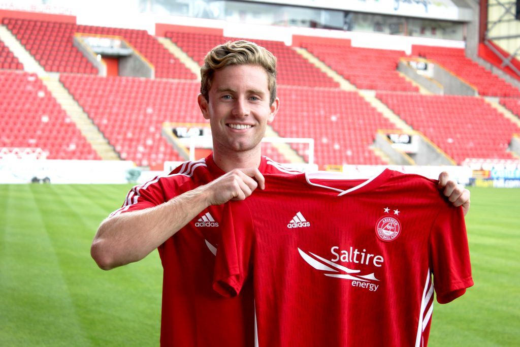 Jon Gallagher has joined the Dons on loan. Pic: AFC Media.