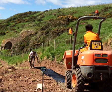 Work on the Mearns Coastal Trail