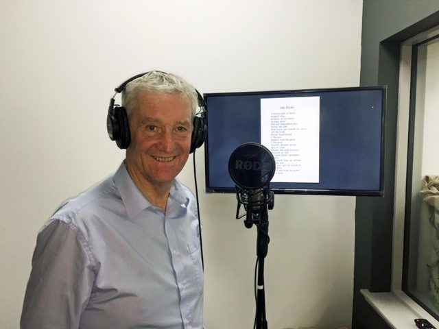MSP Peter Chapman in the recording studio