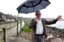 Raymond Christie, chairman of Stonehaven Community council at the Boardwalk on the beach. Picture by Jim Irvine
