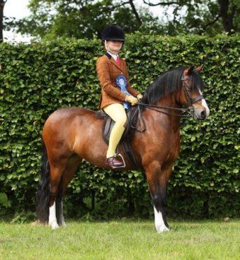 Keiva Robertson and her pony Broughton Tiffany
