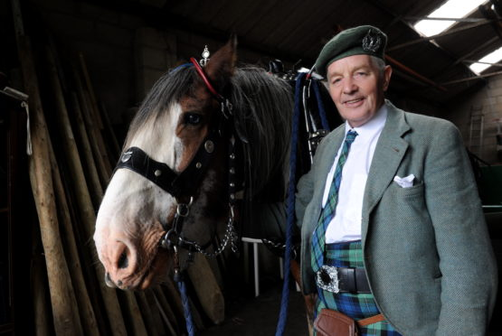Horseman Willie Gray with Mac the horse