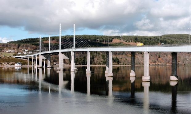 The Kessock Bridge in Inverness. Photograph by Sandy McCook
