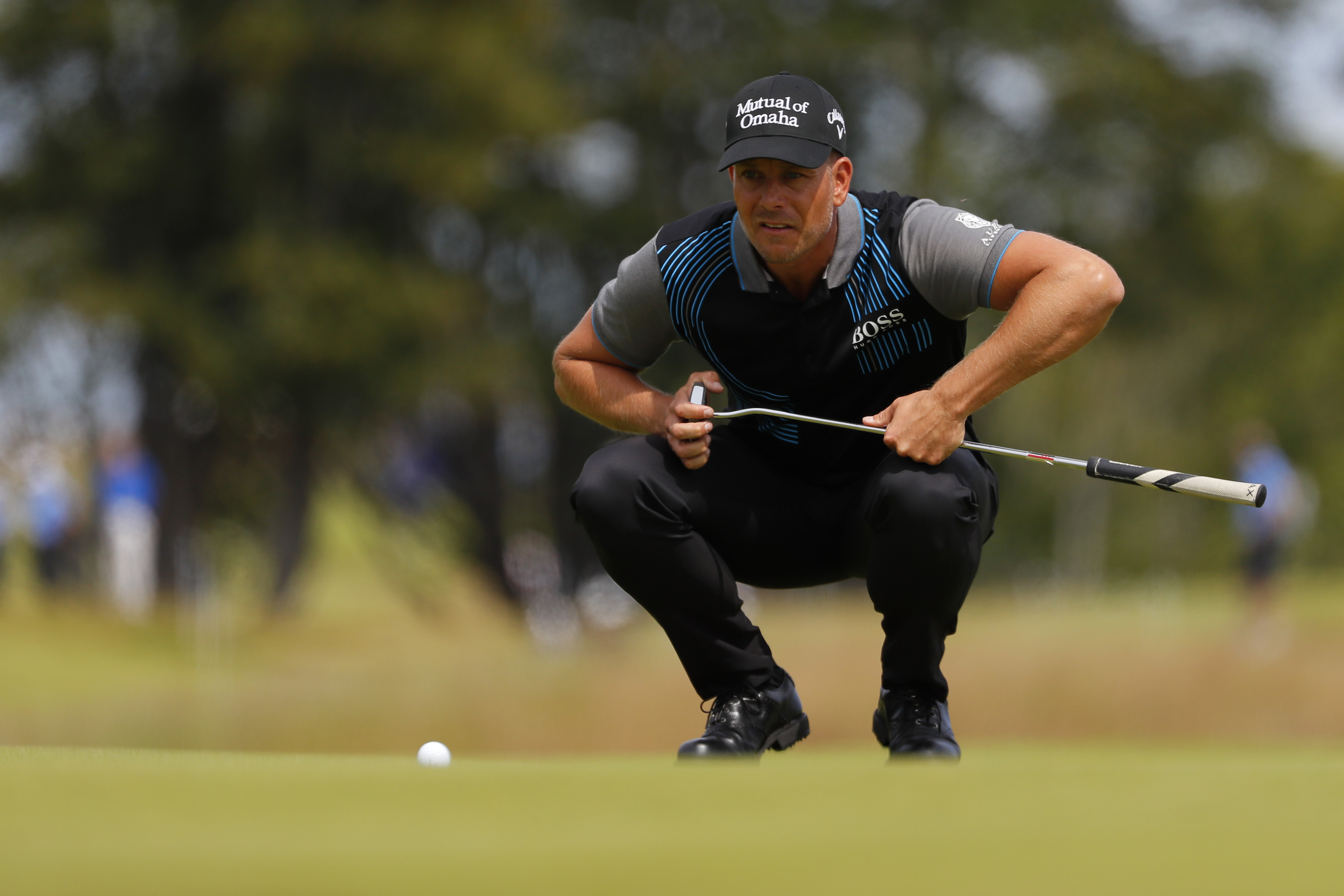 Henrik Stenson of Sweden putts on the 9th hole during day 1 of the Aberdeen Standard Investments Scottish Open at The Renaissance Club.  (Photo by Kevin C. Cox/Getty Images)