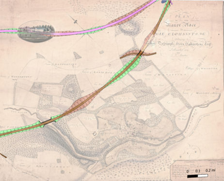 The group has overlayed the modern dualling proposals with estate maps dating back to 1821.