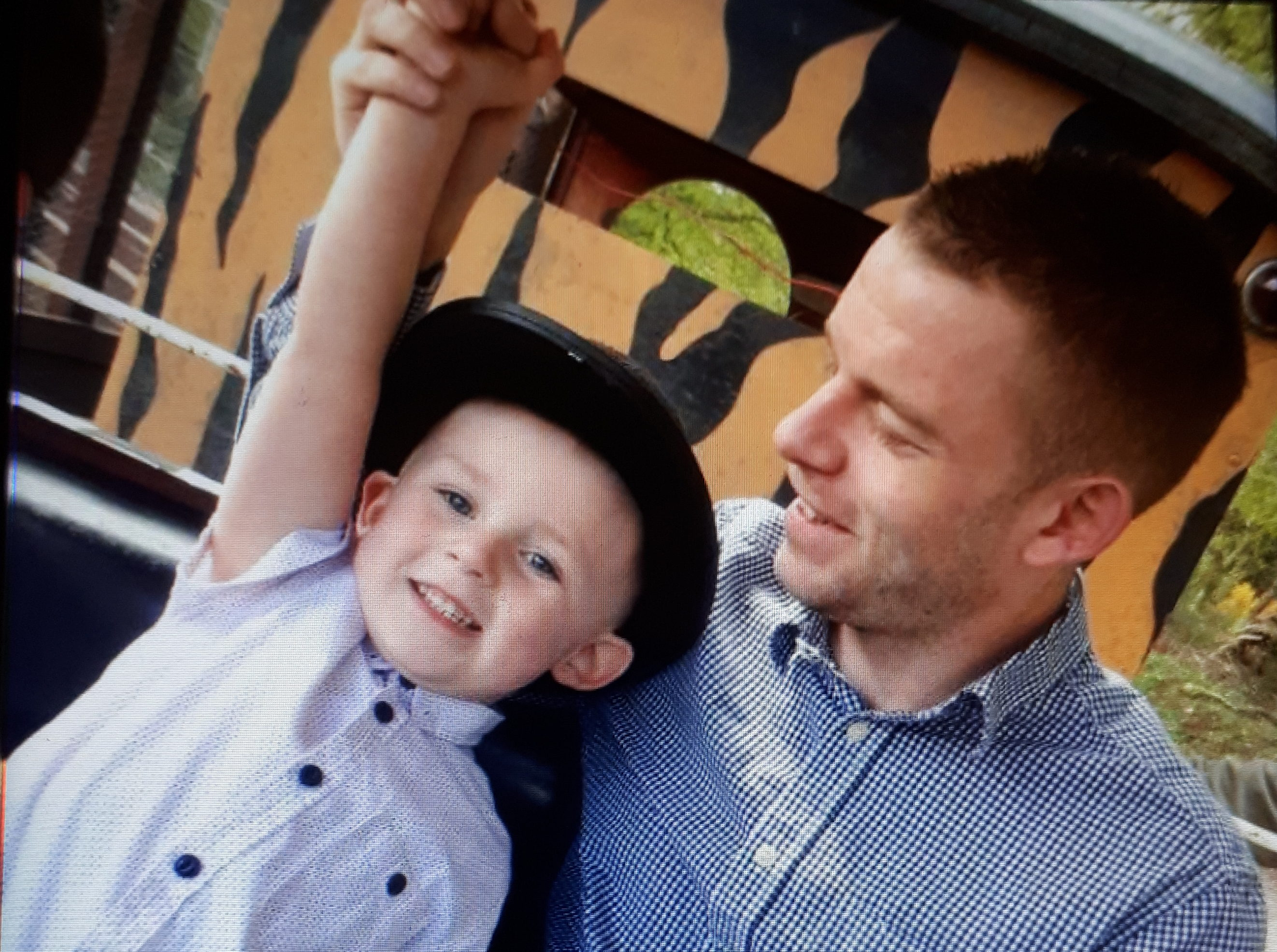 James Lynagh and his 8-year-old son Riley.
