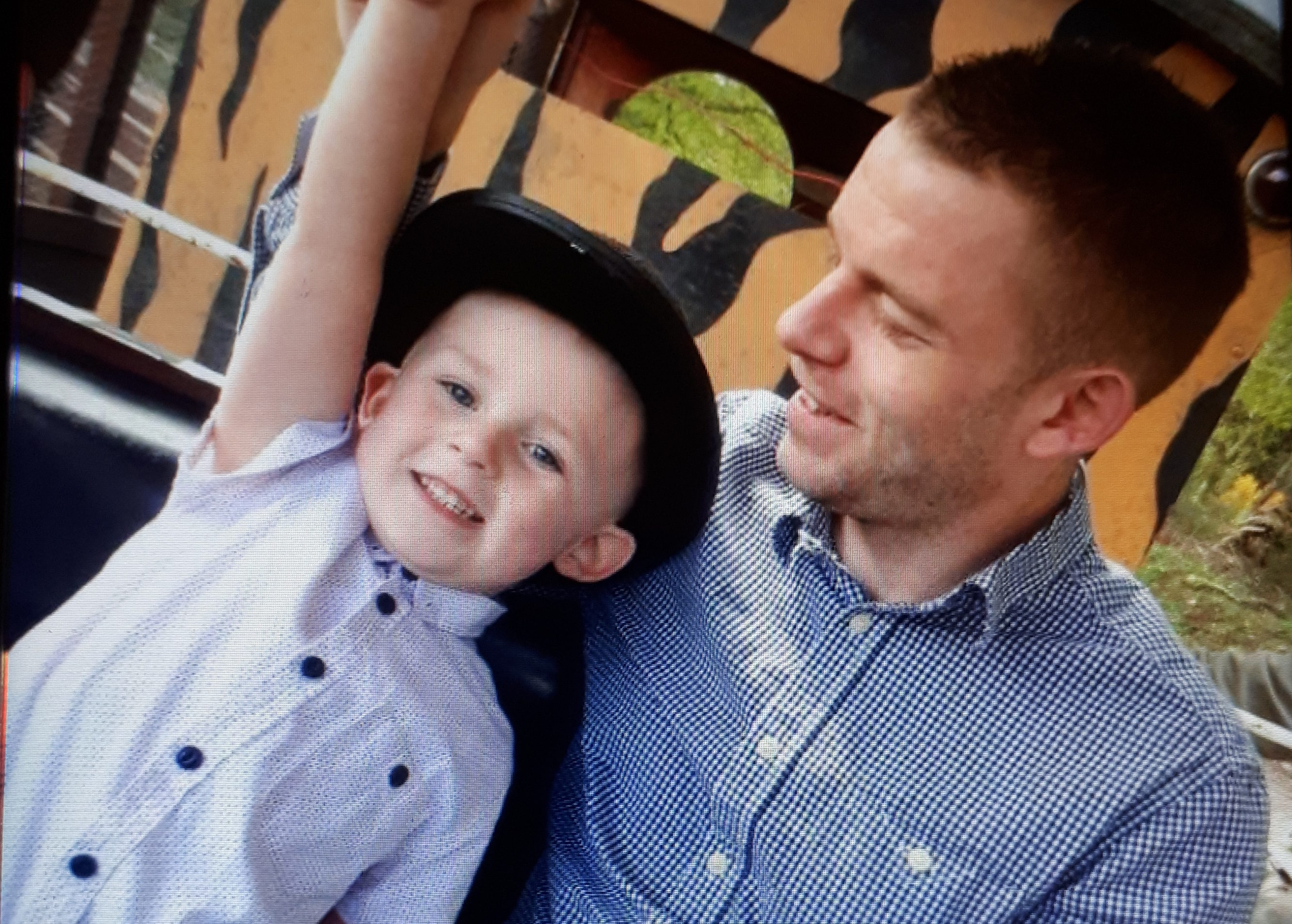 James Lynagh and eight-year-old son Riley