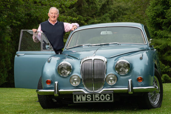 Roy Grant with his 1968 Daimler V8 250.