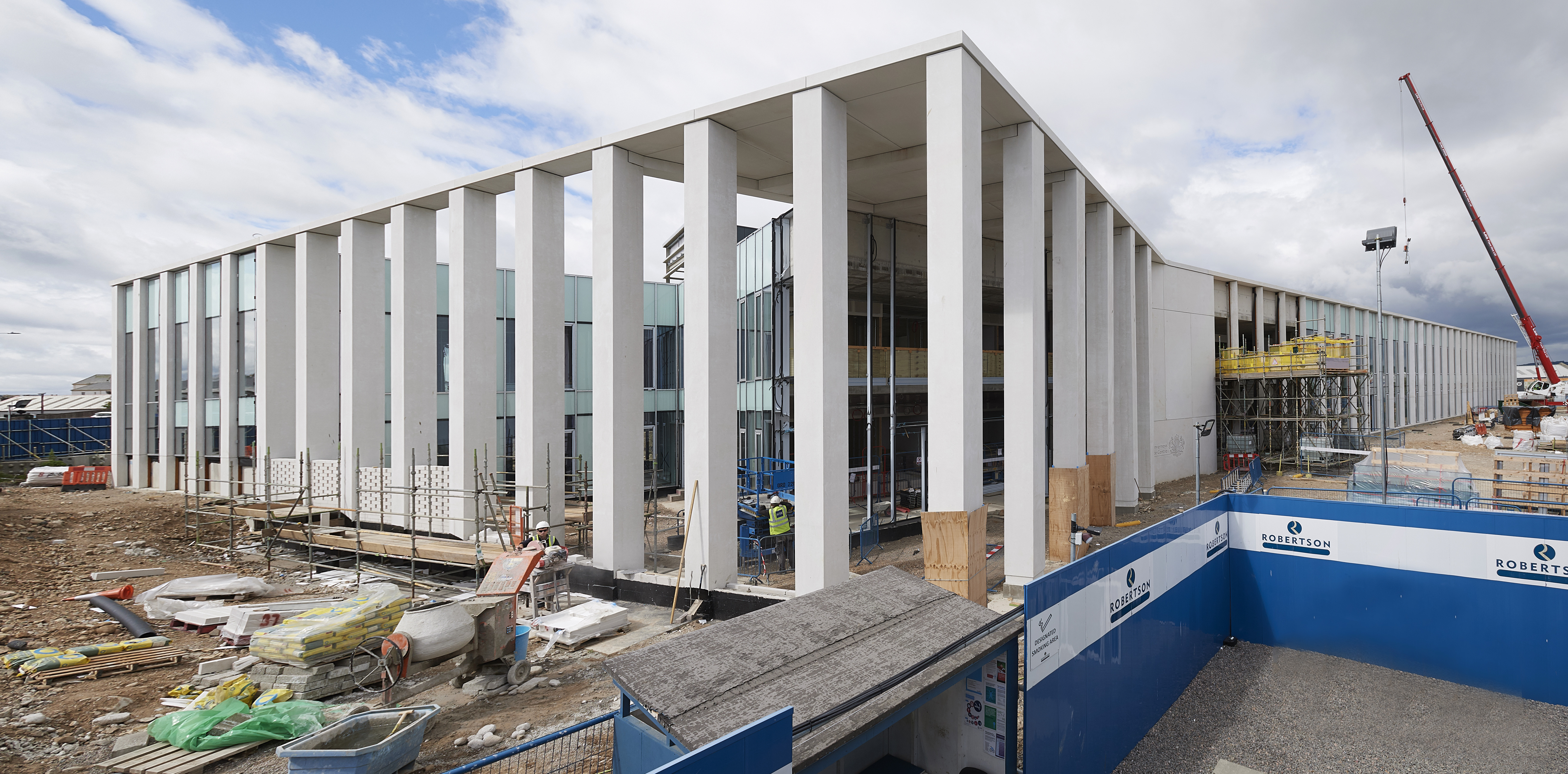 Inverness Justice Centre, under construction in 2019