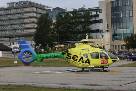 A North Sea oil firm has donated £2,500 to help bring Scotland's Charity Air Ambulance to the north-east.