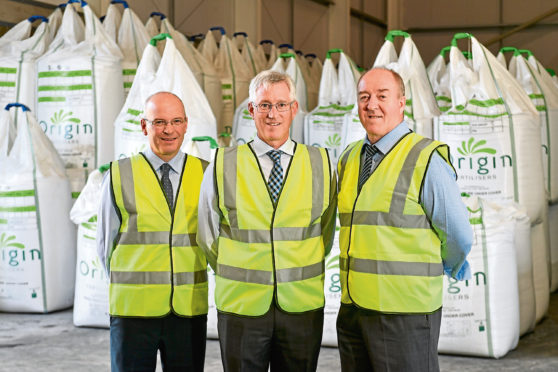 From left, technical director Peter Scott; managing director Mike Pater and commercial director Steve McHarg