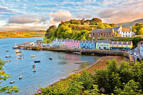 gems view on Portree before sunset, Isle of Skye, Scotland