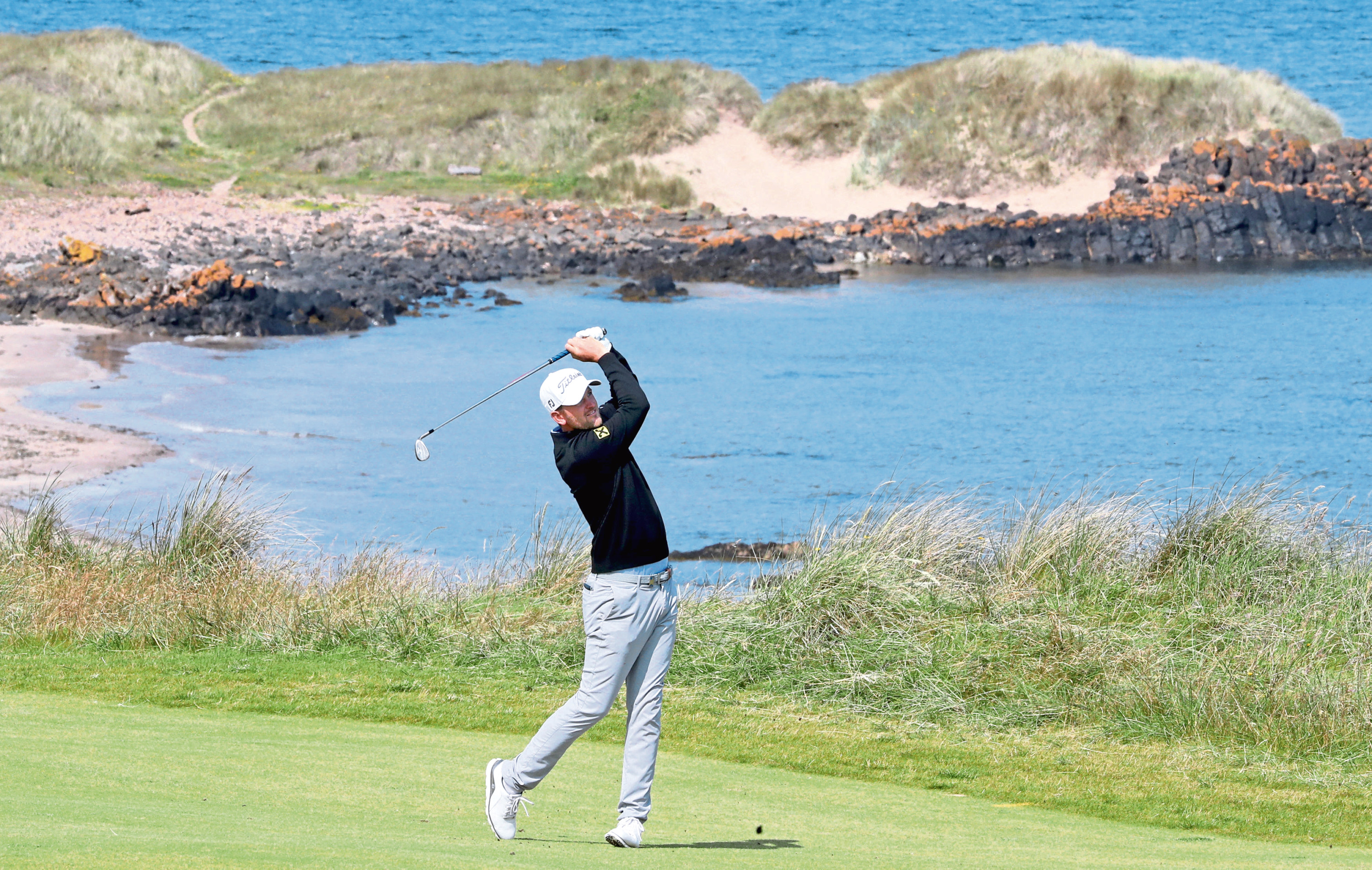 Austria's Bernd Wiesberger on the 4th hole during day two of the Aberdeen Standard Investments Scottish Open at The Renaissance Club, North Berwick.