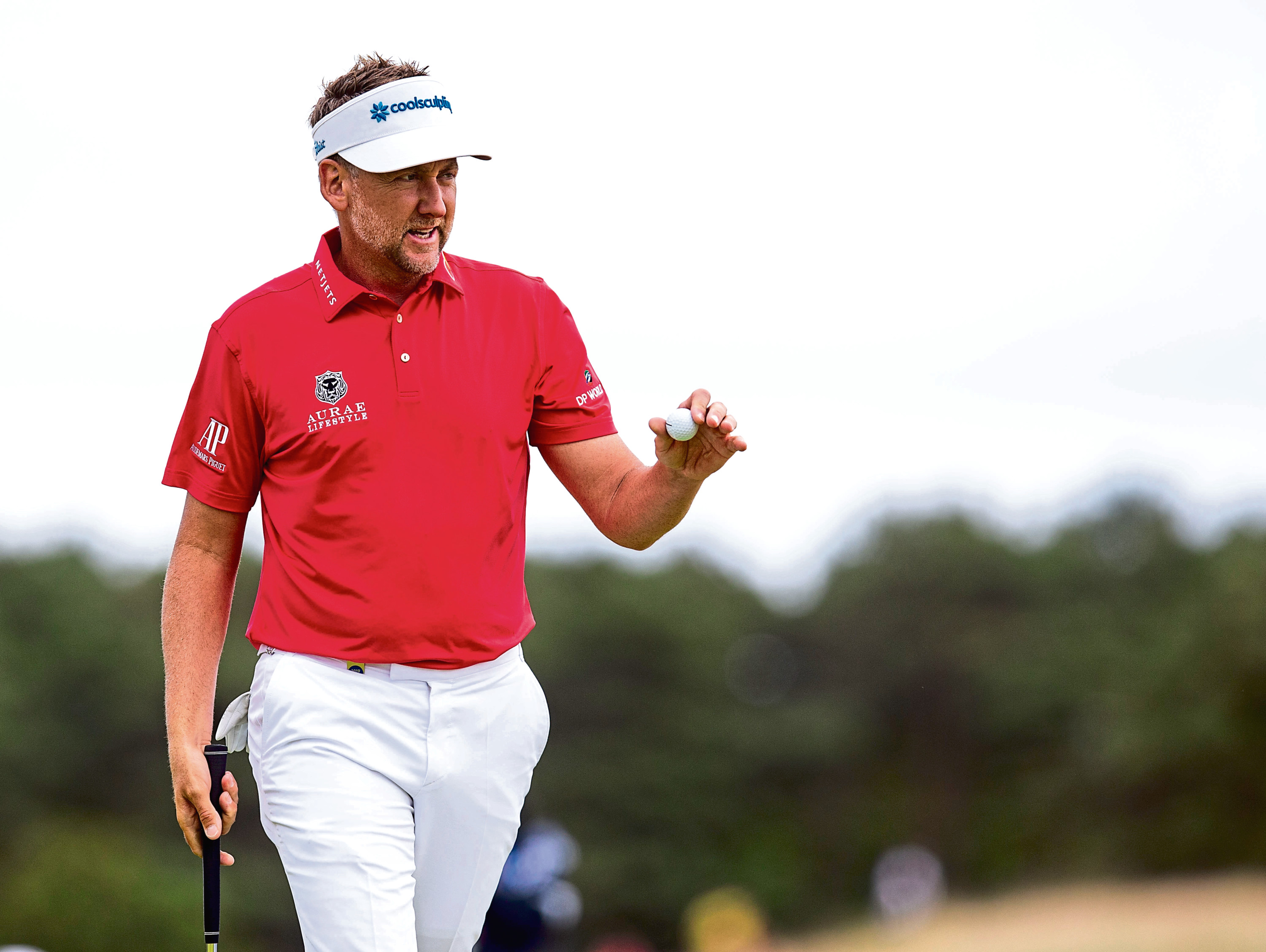 11/07/19 ABERDEEN STANDARD INVESTMENTS (SCOTTISH OPEN) DAY TWO THE RENAISSANCE CLUB - NORTH BERWICK Ian Poulter in action on Day 2 of the Aberdeen Standard Investments Scottish Open.