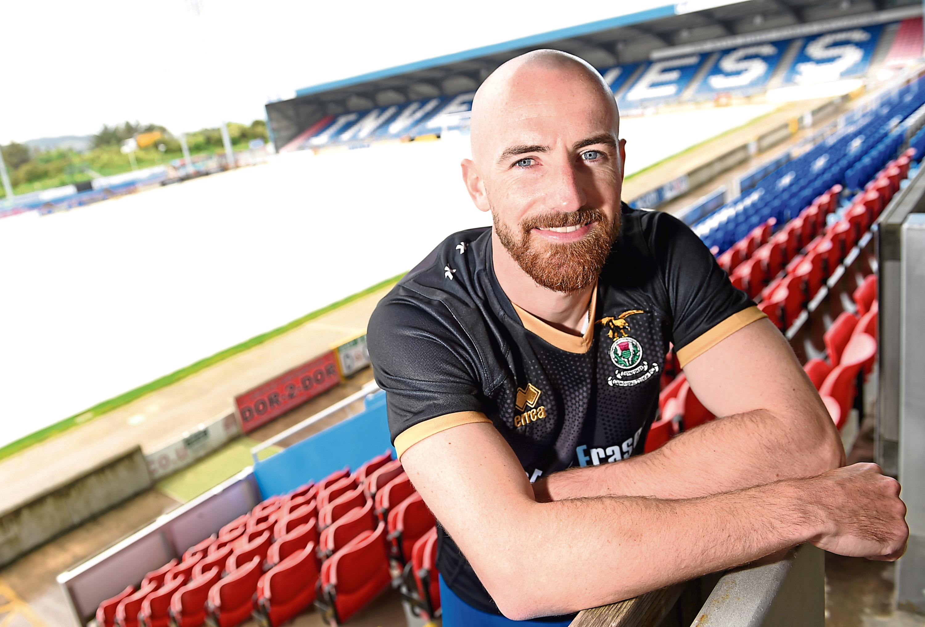 Caley Thistle midfielder James Vincent.