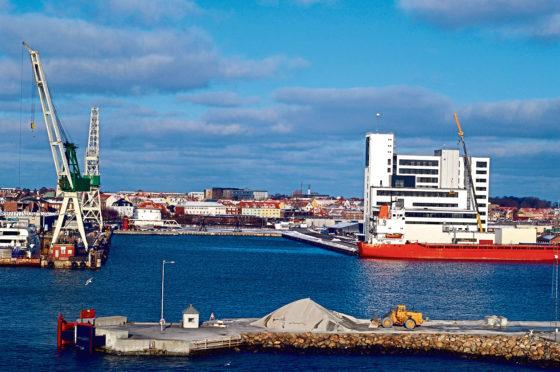 The harbour in Frederikshavn, Denmark