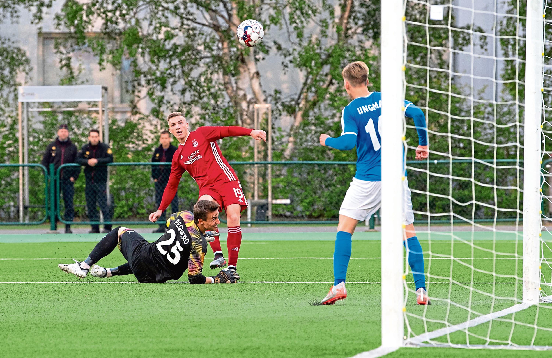Lewis Ferguson nets against RoPS Rovaniemi last summer.