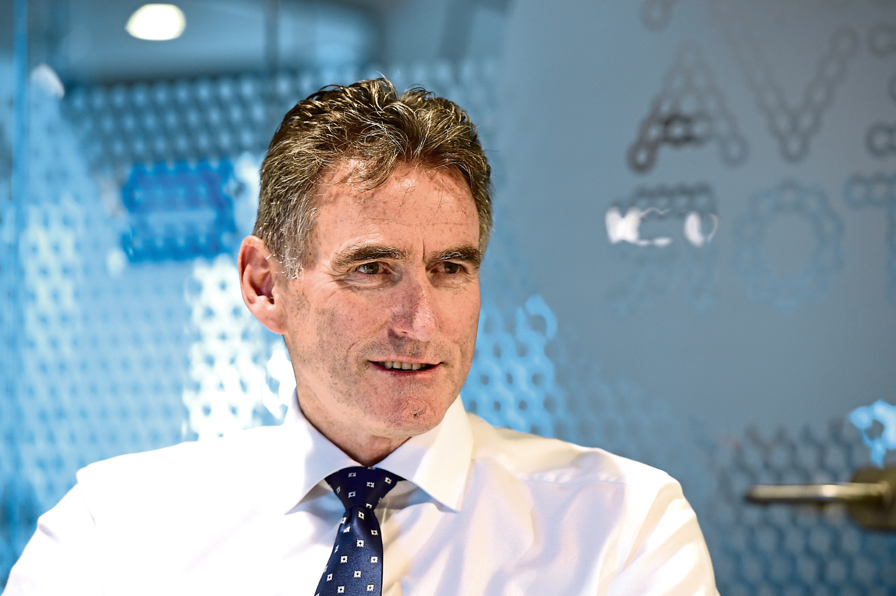 Royal Bank of Scotland Chief Executive, Ross McEwan, at The Hub, Aberdeen Energy Park.    Picture by KEVIN EMSLIE