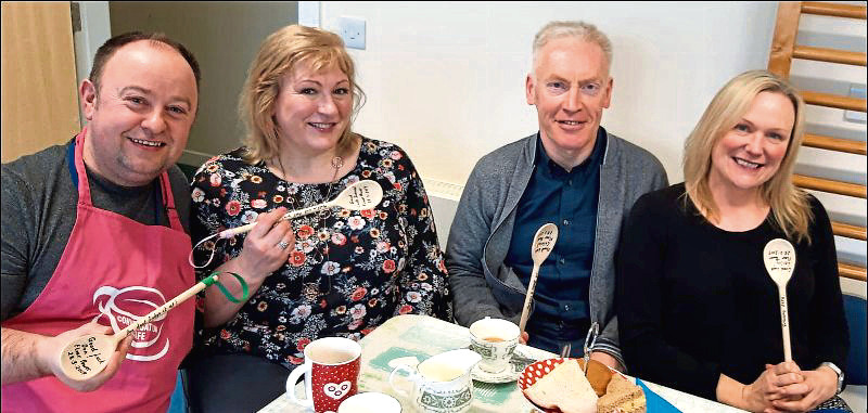 Don Allan, Suzanne Nicol, Calvin Little and Lesley Lawrie from the Maud Centre will battle it out to see who the best baker is.