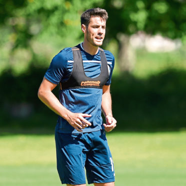 Picture by SANDY McCOOK  27th June '19 Ross County in pre season training.  Brian Graham.