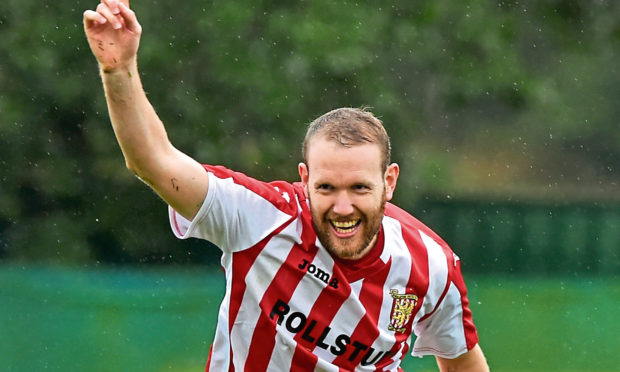 Formartine United striker Garry Wood.