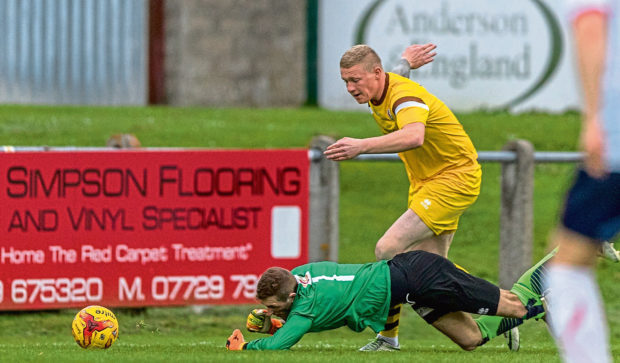 Lee Fraser could feature for Forres come October after his recovery stepped up and, inset, manager Charlie Rowley
